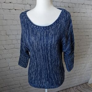 Express Sweater, 3/4 Length Sleeves, Blue, XS